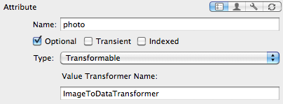 Store a UIImage in Core Data using a value transformer