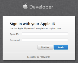 login-to-ios-dev-center