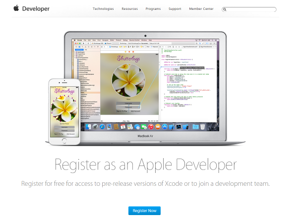 register-as-ios-dev-summer-2015