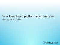 WindowsAzureGetStartedPDF