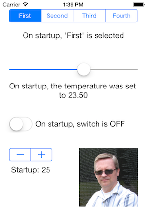 UI Controls startup state