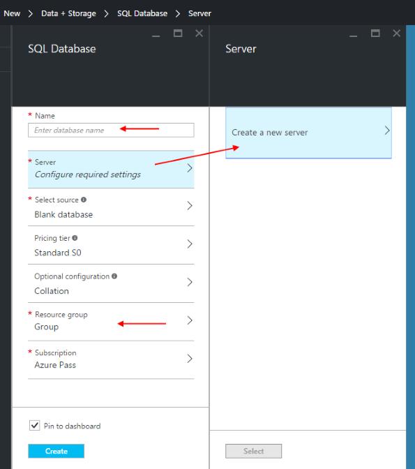 ap-new-sql-db-settings