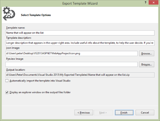 export-template-configure