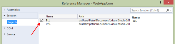 multi-project-solution-add-reference-to-bll