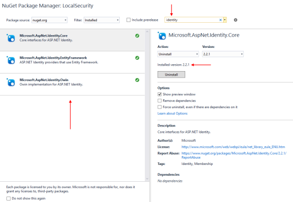 aspnet-identity-in-a-project