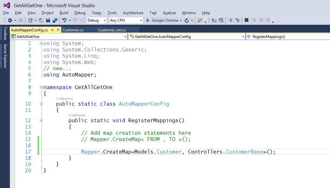 automapper.mapper.createmap how to create mvc